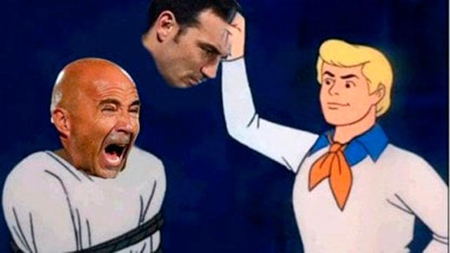 Scaloni y Messi en el centro de las críticas.