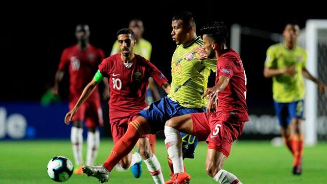 Colombia derrotó en el final a Qatar y está en cuartos de final .