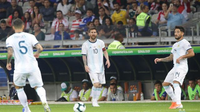 Copa América: Argentina se complica en Belo Horizonte y pierde con Paraguay