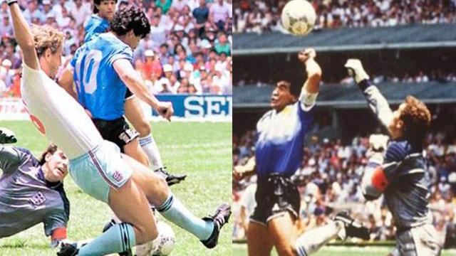 Los dos goles históricos que Diego Maradona le convirtió a Inglaterra.