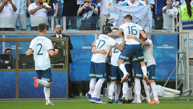 Argentina derrotó a Qatar y clasificó a los cuartos de final de la Copa América