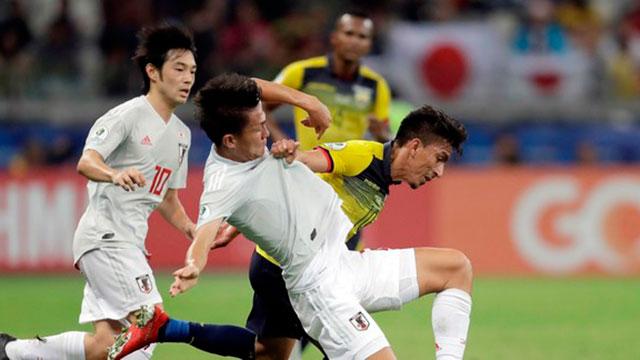 Ecuador y Japón empataron y Paraguay se clasificó a cuartos.