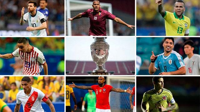 Los cruces para los cuartos de final de la Copa América: días y horarios de los partidos