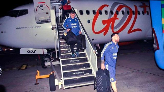 La Selección Argentina llegó a Río de Janeiro.