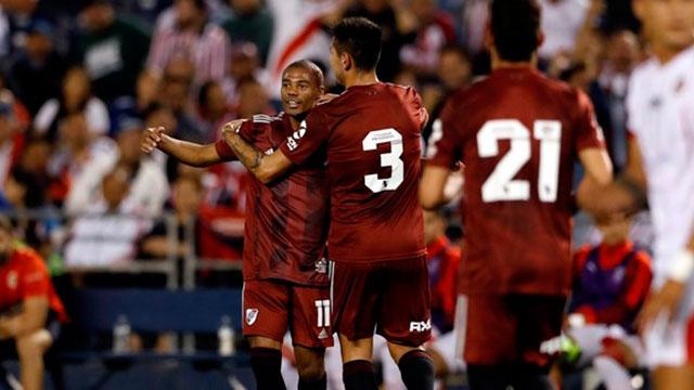 River goleó 5 a 1 a Chivas en su primer amistoso de pretemporada.