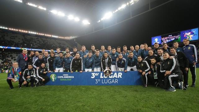 Argentina cerró su participación en la Copa América con una alegría.