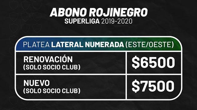 La entidad paranaense dio a conocer los abonas para la Superliga.