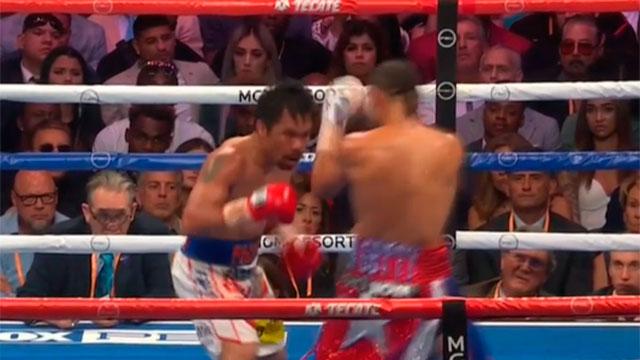 Manny Pacquiao le ganó en fallo dividido al estadounidense Keith Thurman