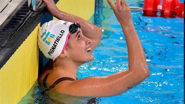 Delfina Pignatiello hizo historia: ganó su tercera medalla de oro en natación