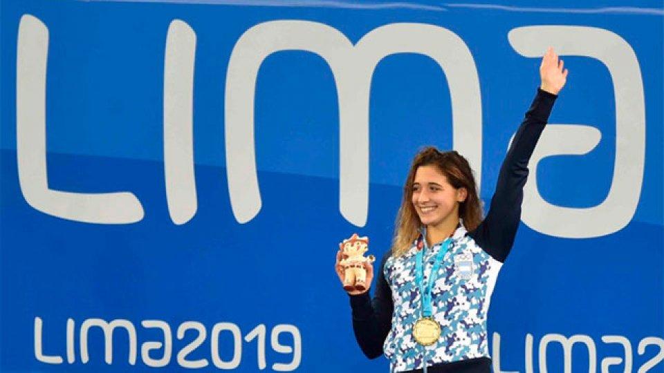Delfina Pignatiello consiguió la medalla dorada en los 800 metros libres