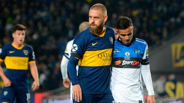Almagro arruinó la fiesta de De Rossi y Boca.