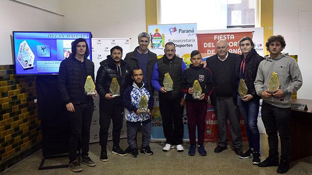 Deportistas destacados de julio recibieron los Premios Aníbal Sánchez.