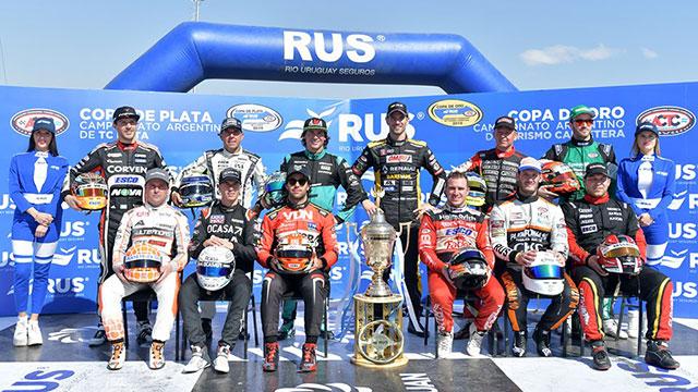 Los 12 pilotos clasificados a la Copa de Oro. (Crédito ACTC)
