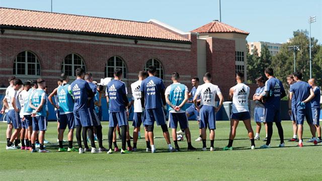 La Selección Argentina llegó a San Antonio.