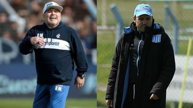 Maradona debuta como entrenador de Gimnasia enfrentando a Racing