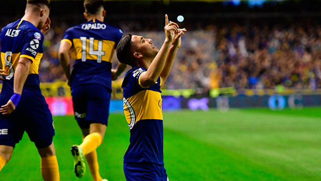 Boca superó 1 a 0 a Estudiantes y es el único puntero del campeonato.