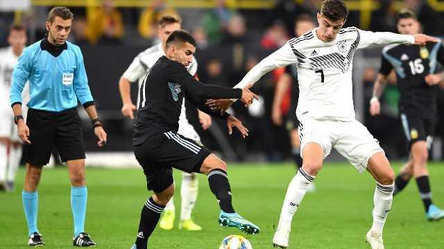 La Albiceleste reacción a tiempo y se llevó un empate ante Alemania.