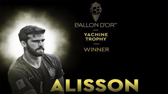 Alisson Becker fue reconocido como el mejor guardameta de la temporada.