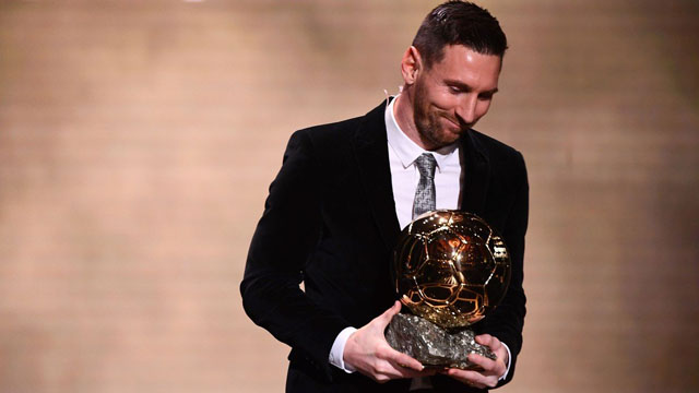 Messi se quedó con su sexto Balón de Oro tras ser el más votado.