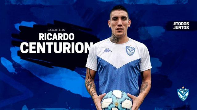 Vélez oficializó la llegada de Ricardo Centurión.