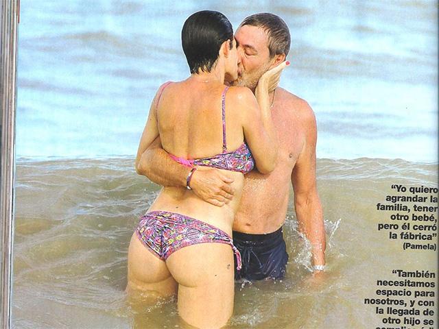 "a37664337dbc Las curvas de Pamela David en la playa: ""Quiero agrandar la familia ..."