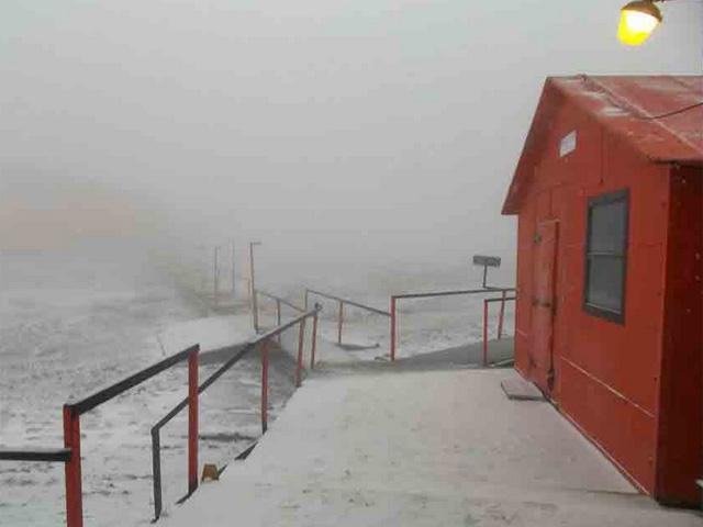 La entrada a la base Marambio en febrero de este año.